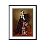 Lincoln's Red Doberman Framed Panel Print