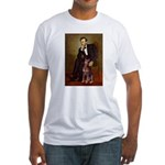 Lincoln's Red Doberman Fitted T-Shirt
