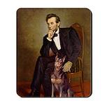 Lincoln's Red Doberman Mousepad