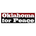 Oklahoma for Peace Bumper Sticker