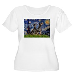 Starry Night / 2 Dobies T-Shirt