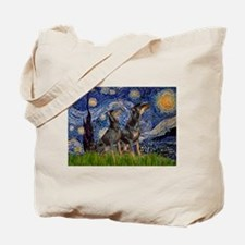 Starry Night / 2 Dobies Tote Bag