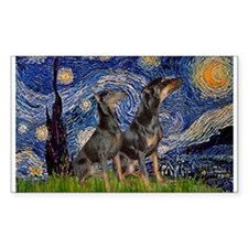 Starry Night / 2 Dobies Decal