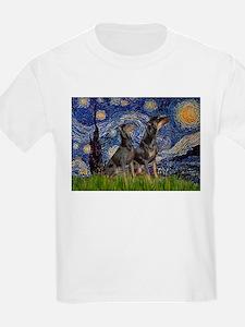 Starry Night / 2 Dobies T-Shirt