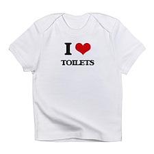 I love Toilets Infant T-Shirt