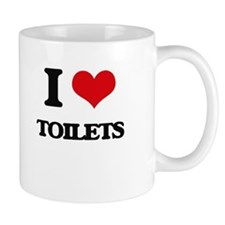 I love Toilets Mugs
