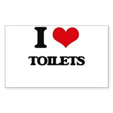 I love Toilets Decal