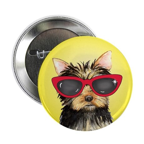 "Summer Yorkie 2.25"" Button (10 pack)"