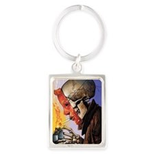 Funny Skull art Portrait Keychain