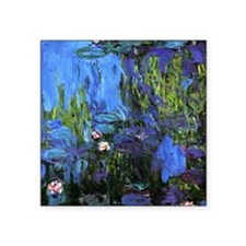 "Monet's Water Lilies 1914-1 Square Sticker 3"" x 3"""