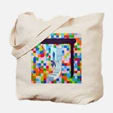 Funny Hebrew alphabet Tote Bag