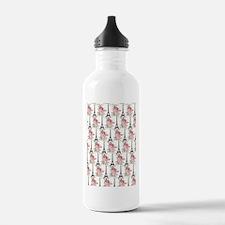 Floral Eiffel Tower Water Bottle