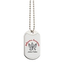 Melanoma Butterfly 6.1 Dog Tags