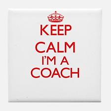Keep calm I'm a Coach Tile Coaster