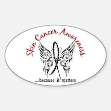 Skin Cancer Butterfly 6.1 Sticker (Oval)