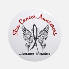 Skin Cancer Butterfly 6.1 Ornament (Round)
