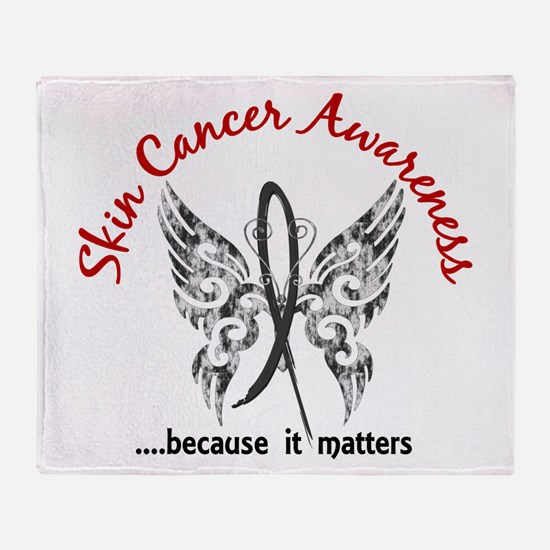 Skin Cancer Butterfly 6.1 Throw Blanket