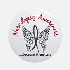 Narcolepsy Butterfly 6.1 Ornament (Round)