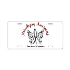 Narcolepsy Butterfly 6.1 Aluminum License Plate