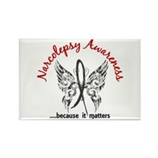 Narcolepsy Butterfly 6. Rectangle Magnet (10 pack)