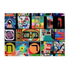 The Hebrew Alphabet 5'x7'Area Rug
