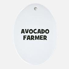 avocado farmer Oval Ornament