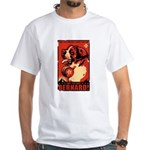 Obey the Saint Bernard! 2-sided White T-Shirt