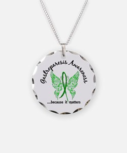 Gastroparesis Butterfly 6.1 Necklace