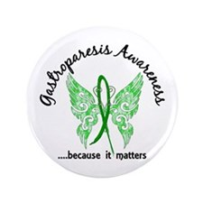 """Gastroparesis Butterfly 6.1 3.5"""" Button"""