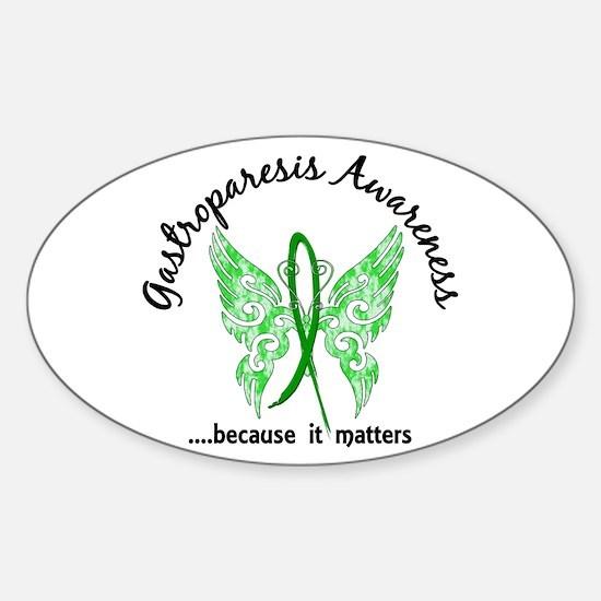 Gastroparesis Butterfly 6.1 Sticker (Oval)