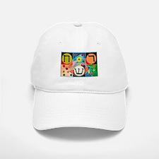 The Network alphabet - Hebrew Baseball Baseball Cap