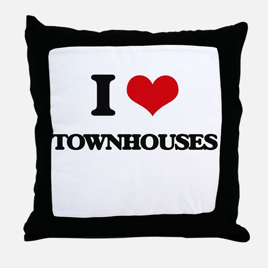 I love Townhouses Throw Pillow