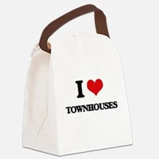 I love Townhouses Canvas Lunch Bag