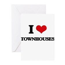 I love Townhouses Greeting Cards
