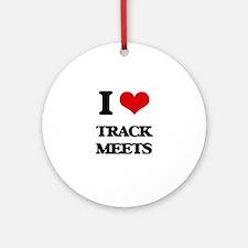 I love Track Meets Ornament (Round)