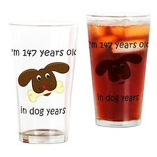 21 dog years 4 Drinking Glass