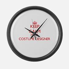 keep calm im a costume designer large wall clock - Designer Large Wall Clocks