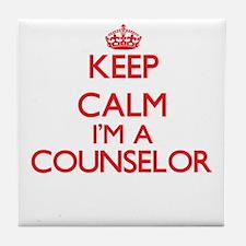 Keep calm I'm a Counselor Tile Coaster