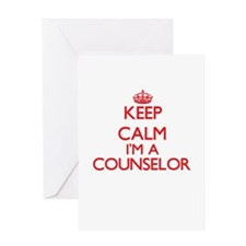 Keep calm I'm a Counselor Greeting Cards