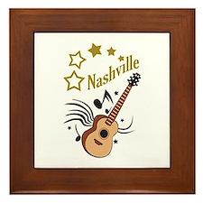 NASHVILLE MUSIC Framed Tile