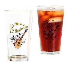 NASHVILLE MUSIC Drinking Glass