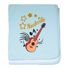 NASHVILLE MUSIC baby blanket