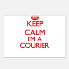 Keep calm I'm a Courier Postcards (Package of 8)