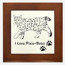 I Love Pixie-Bobs Framed Tile