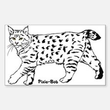 Pixie-Bob Rectangle Decal