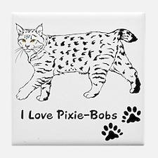 I Love Pixie-Bobs Tile Coaster