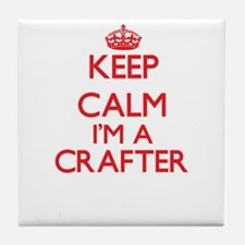 Keep calm I'm a Crafter Tile Coaster
