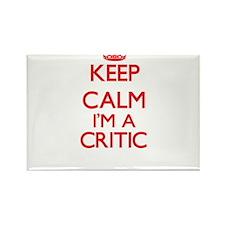 Keep calm I'm a Critic Magnets