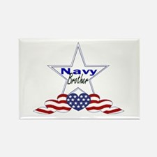 navy brother Rectangle Magnet