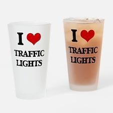 I love Traffic Lights Drinking Glass